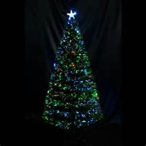 6 artificial fiber optic holiday light up christmas tree
