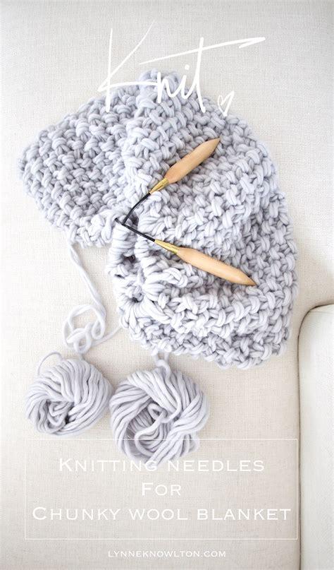 knitting needles for blankets free chunky wool blanket pattern