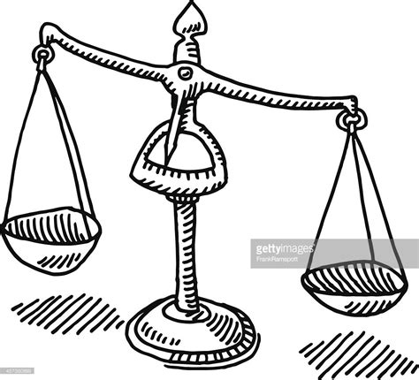 draw to scale free scales of justice drawing vector getty images