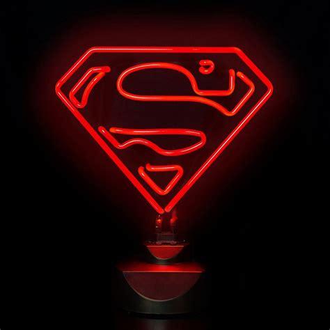 playstation light up sign dc superman 30cm wide neon light gifts zavvi com