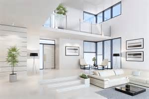 white concrete floors for commercial and industrial use