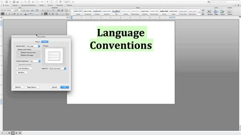 horizontal layout word mac center text vertically microsoft word for mac youtube