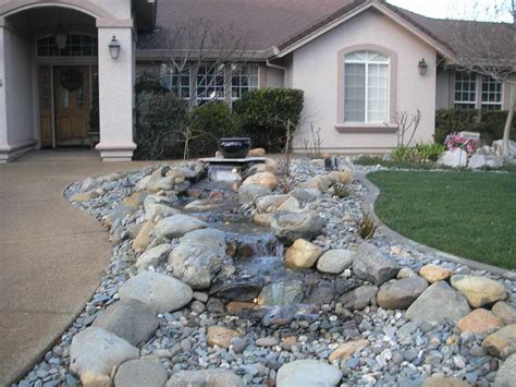Rock Landscaping Ideas Backyard Front Yard Landscaping With Rocks The Amusing Pics Above