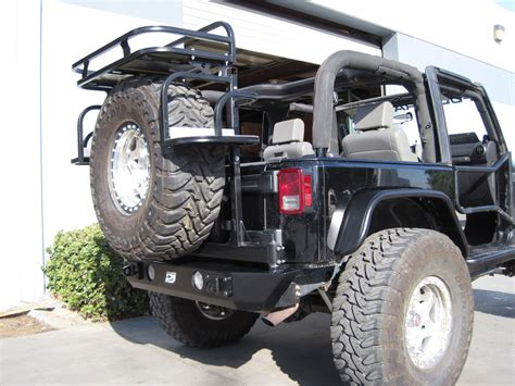 Rear Cargo Rack For Jeep Wrangler Hanson Tire Carrier W Cargo System Jeep Wrangler Forum