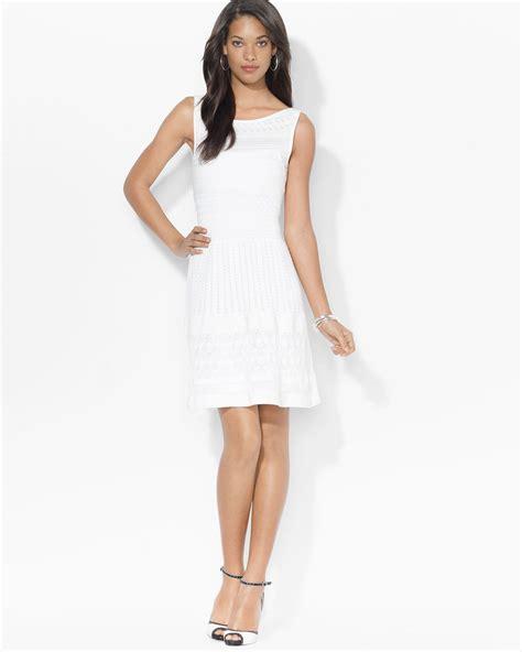 Lawren Dress lyst ralph dress sleeveless pointelle