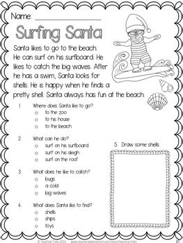 grade 2 reading comprehension christmas activities reading comprehension passages and questions