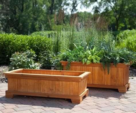 patio garden planter box ideas home inspirations