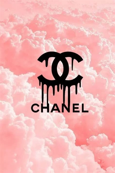 Channel Pink chanel clouds pink wallpaper fashion illustration