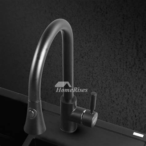 rubbed bronze kitchen faucet pull out spray black