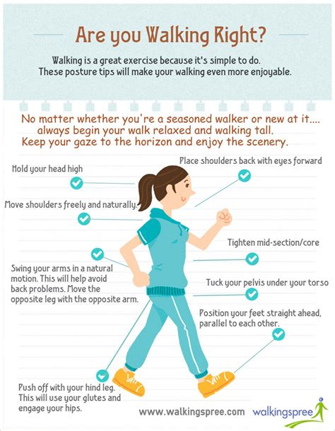 how to your to walk you are you walking right infograph walkingspree