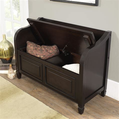 wood entryway bench with storage simpli home connaught wood storage entryway bench