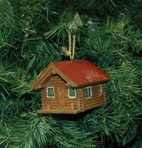 log cabin christmas ornament holiday pinterest
