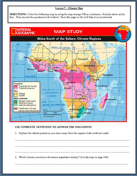 unit 6 africa physical map answers unit7assignments mrrodriguez23