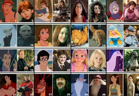 what is your celebrity look alike quiz disney vs harry potter lookalikes by picture quiz by