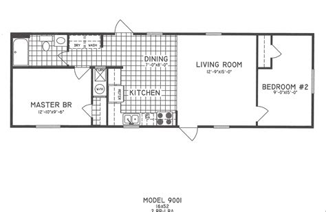 2 bedroom floor plan c 9001 hawks homes manufactured
