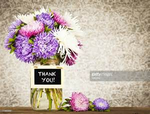Thank You Flowers by Flowers With Thank You Message Stock Photo Getty Images