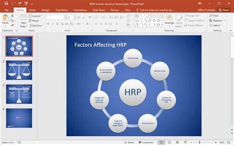 ppt templates for hr presentation free human resource factors powerpoint template