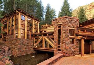 How To Build An Outdoor Stone Fireplace - luxury homebuilder in sedona mountain living s home of the year