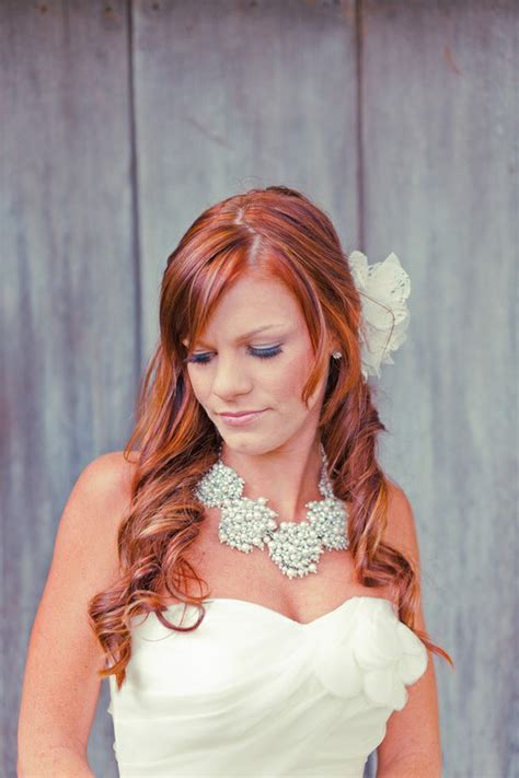 bridal hairstyles for red hair brides with red hair rock wedding hairstyle inspiration