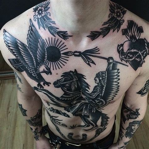 tattoo chest full amazing full chest tattoos by xgusak tattoo