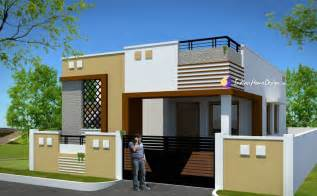 Home Designer Contemporary Low Cost 800 Sqft 2 Bhk Tamil Nadu Low Cost