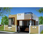 Contemporary Low Cost 800 Sqft 2 Bhk Tamil Nadu Home Design
