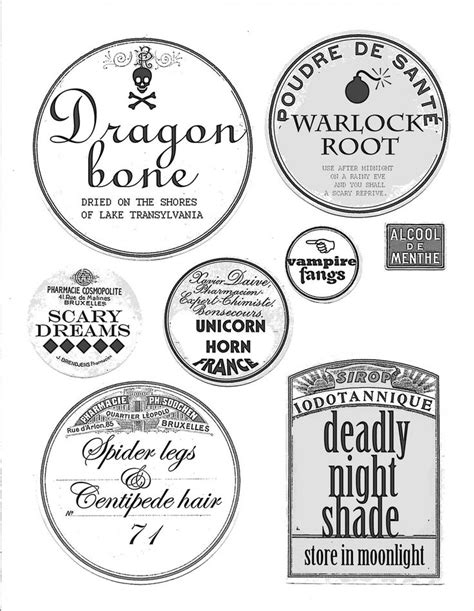 printable stickers for halloween best 160 halloween potions other labels images on
