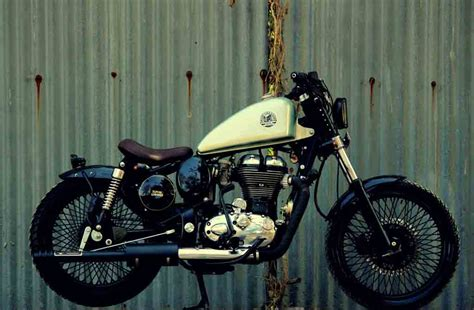 modified bullet classic 350 this royal enfield classic 350 bobber looks eye catching