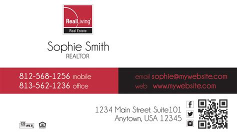 Living Business Card Template by Real Living Business Card Real Living Business Card Ideas