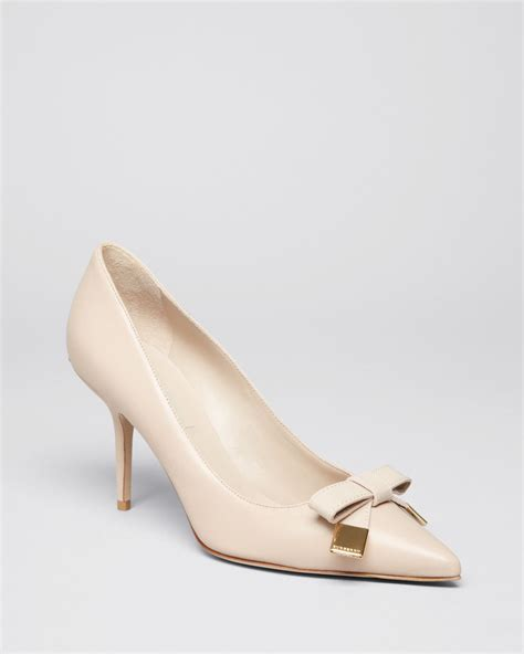 burberry high heels burberry pointed toe pumps rayness high heel in beige