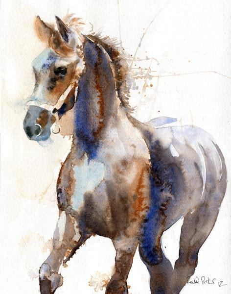 watercolor horse tutorial rachel s studio blog new friesian horse watercolor