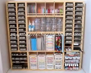 Storage Unit Organization Ideas Sharon S Scrappy Space Ultra Scrapbook Storage Unit Now