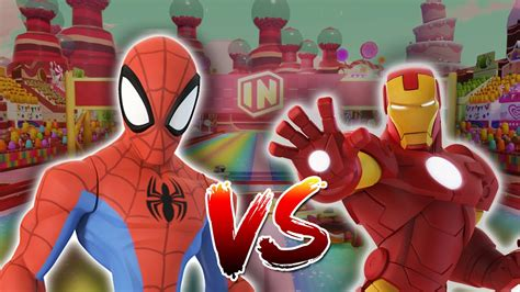 spiderman iron man gaming race disney infinity