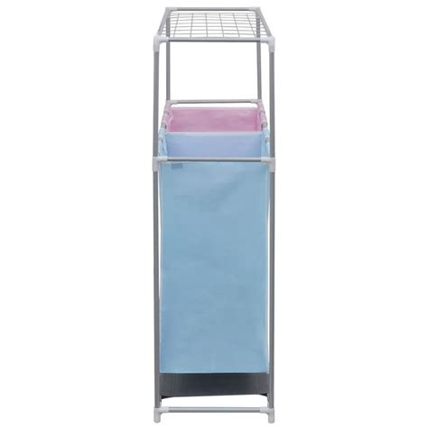 2 Section Laundry Sorter Her With A Top Shelf For 2 Section Laundry