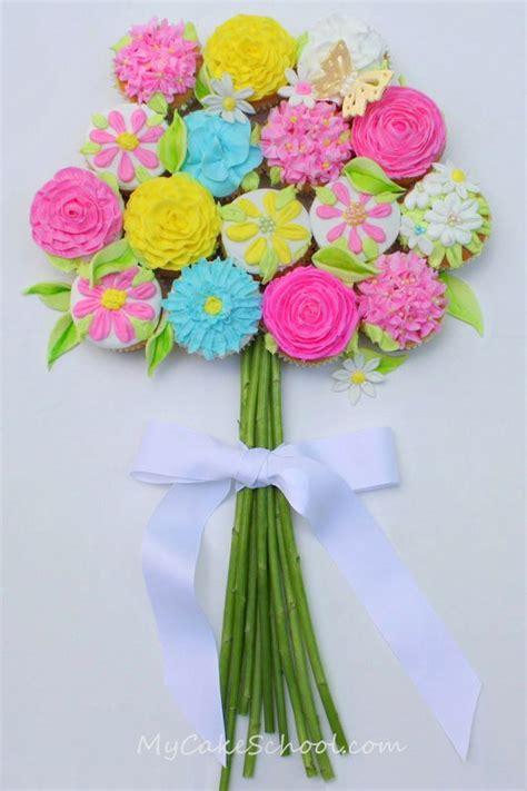 Flower Arrangement Techniques by Bouquet Of Cupcakes Tutorial Mycakeschool Com My Cake