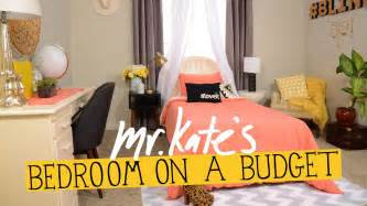 how to decorate new home on a budget bedroom on a budget diy home decor mr kate youtube