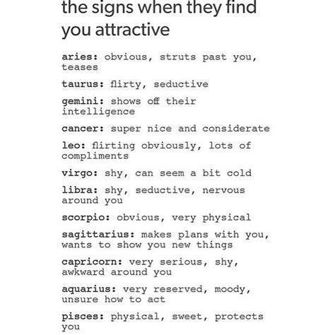 Signs Find You Attractive Libra Signs Cancer Scorpio On Instagram