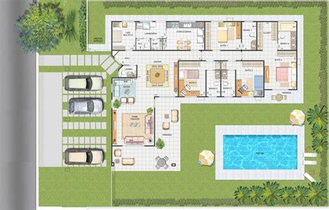 planta casas modelos de plantas 6 quartos