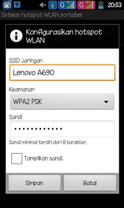 cara membuat jaringan wifi hp android cara membuat wifi tethering di hp android