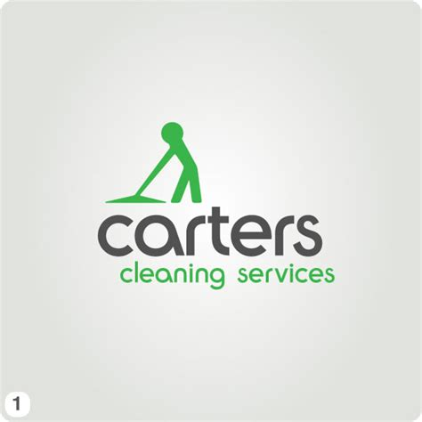 cleaning character working logo green grey rabbitdigital