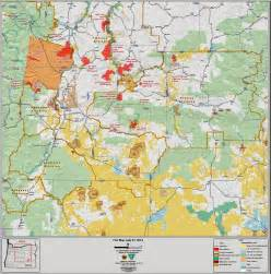 map of oregon fires central or info central oregon area map of