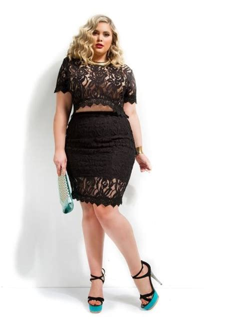 Gissel Blouse 3 plus size quot gissel quot scallop lace crop top black monif c curvy fashion