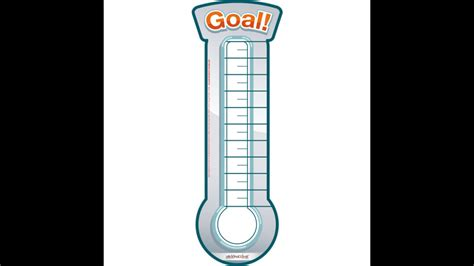 fundraising meter template best photos of printable goal thermometer template