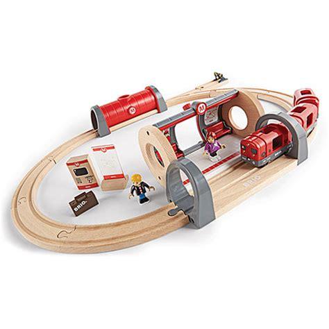 brio railways brio metro railway set the learning tree
