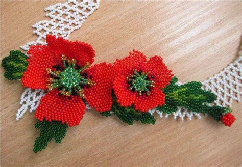 beaded flower pattern beaded flower pattern poppy bead tutorials