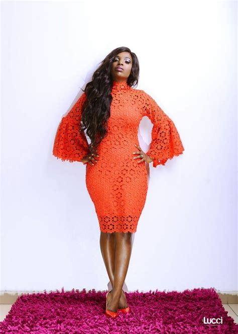 lace styles by bella lightup concepts fab shots of annie idibia in abbyke