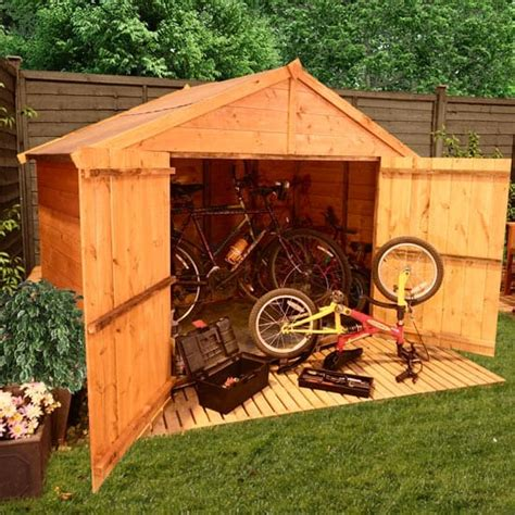 Shed Away Wooden Bike Shed 7 X 4 Woodworking Desk Reddit