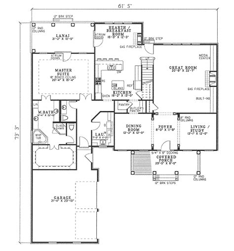 home plan homepw07706 2843 square traditional style house plan 4 beds 2 50 baths 2843 sq
