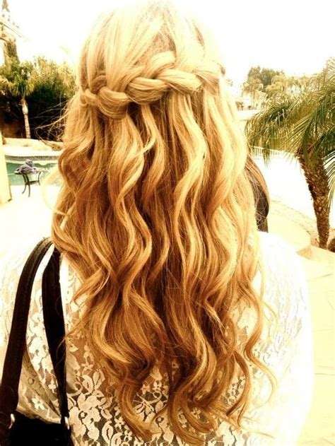 curly hairstyles plait hair how to do a waterfall braid hairstyle fab fashion fix