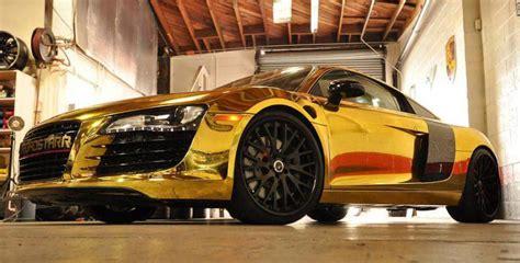 Tyga Gold Chrome Audi R8 Celebrity Carz
